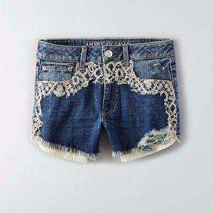 American Eagle Festival Shortie Shorts - Size 16